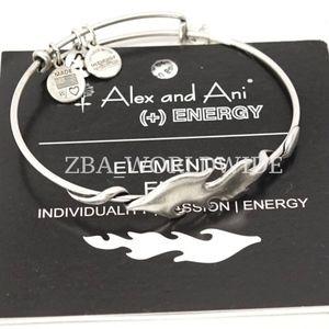 Alex And Ani Elements Fire Silver Bangle
